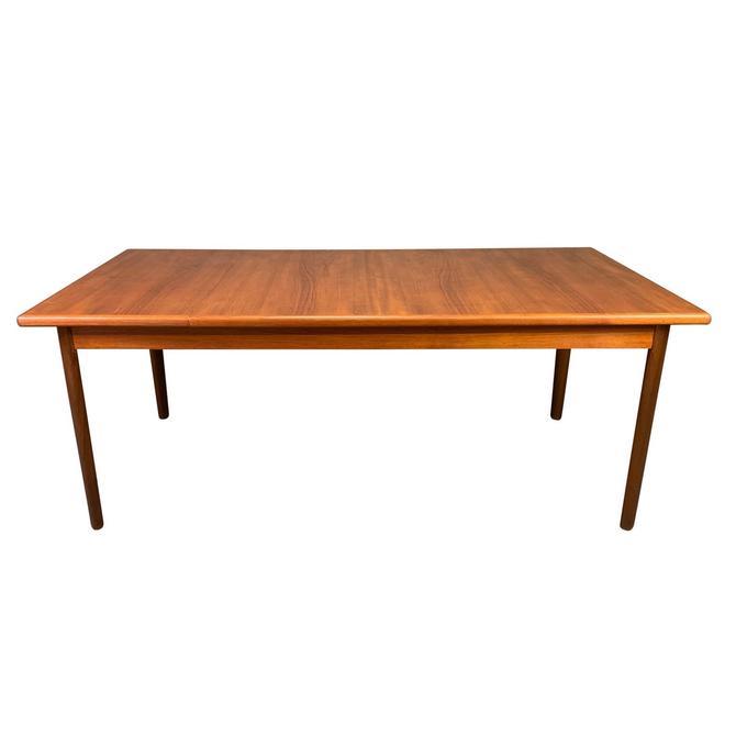Large Vintage Danish Mid Century Modern Teak Dining Table by AymerickModern