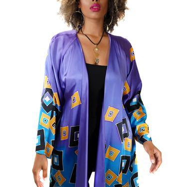 Purple Passion Hand Painted Silk Robe
