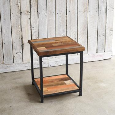 Rustic Accent Table / Reclaimed Wood End Table / Lower Shelf by wwmake
