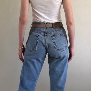 90s Calvin Klein button fly jeans / vintage CK Calvin Klein high waisted button fly straight leg jeans   28 W by RecapVintageStudio