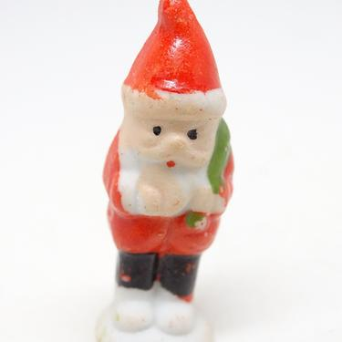Antique 1940's Japan Miniature Hand Painted Ceramic Bisque Santa Claus, Vintage Christmas by exploremag