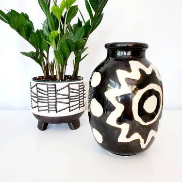Vintage Japanese Studio Pottery Art Vase by pennyportland