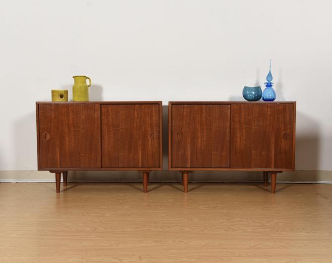 Pair of Danish Modern Teak Low Cabinets