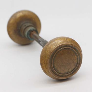 Pair of Antique Brass Concentric Door Knobs