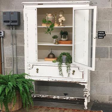 LOCAL PICKUP ONLY ———— Vintage China Cabinet by RetrospectVintage215