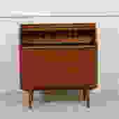 Danish Modern Roll Top Secretary Desk / Dresser in Teak