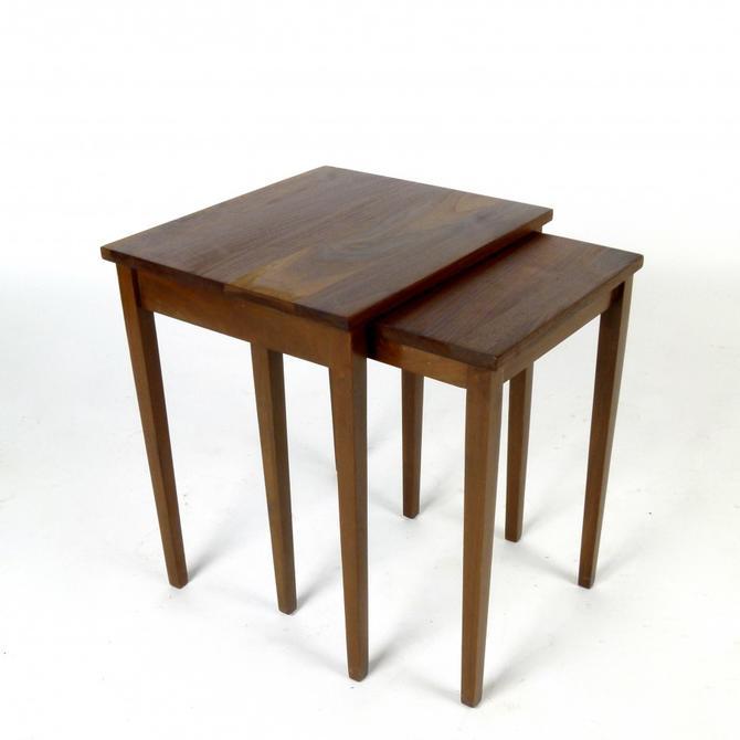 Custom Solid Walnut Nest Tables