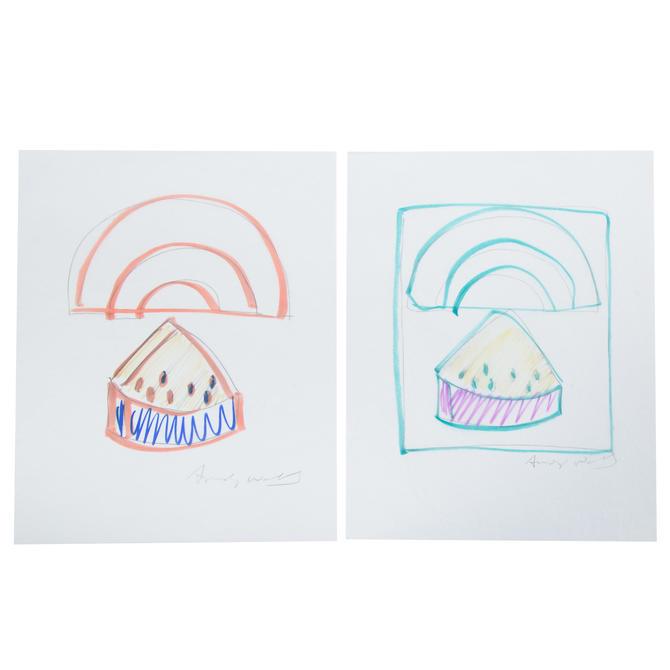 Andy Warhol. Pr. Watermelon Rainbow Orange