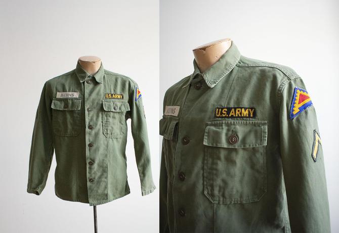 Vintage US Army Field Jacket / Vintage Army Jacket Small / Vintage Olive Drab US Army Jacket / Vintage Vietnam Era Jacket / Vintage Military by milkandice