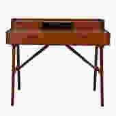 Petite Danish Teak Split Drawer Arne Wahl Iversen Expanding Vanity / Desk