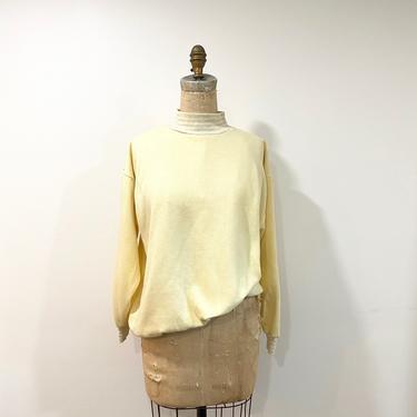 80s mock neck sweatshirt by harlowandspring