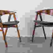 Erik Kirkegaard for Høng Stolefabrik/DUX 'Compass' Chairs, Denmark
