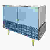 Blue Glass Cabinet by Interno 43 for Gaspare Asaro