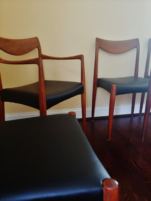 Vintage Teak Dining Chairs by Rastad & Relling for Gustav Bahus - Set of 6 by ModandOzzie