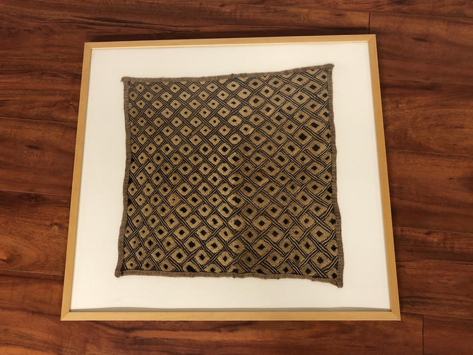 Original Framed Piece of Kuba Cloth - Made in the Democratic Republic of Congo by Vintagefurnitureetc