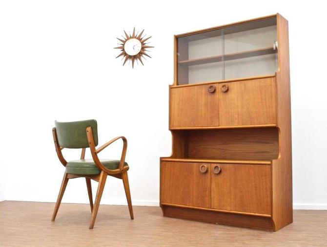 Mid Century Danish Teak Display Cabinet by SputnikFurnitureLLC