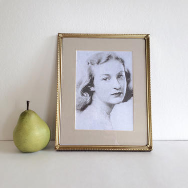 Vintage 8x10 Gold Metal Frame, Simple Style, Vertical or Horizontal by CivilizedCrow