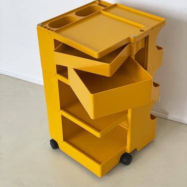 Vintage Yellow Boby Cart by Joe Colombo