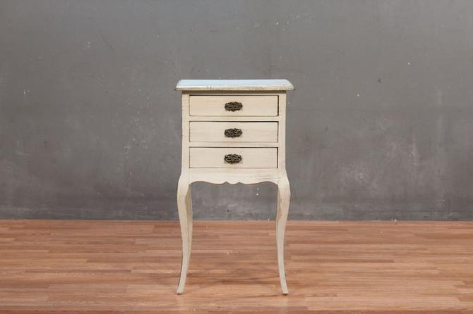 Provincial Blueberry & Cream 3-Drawer Side Table – ONLINE ONLY