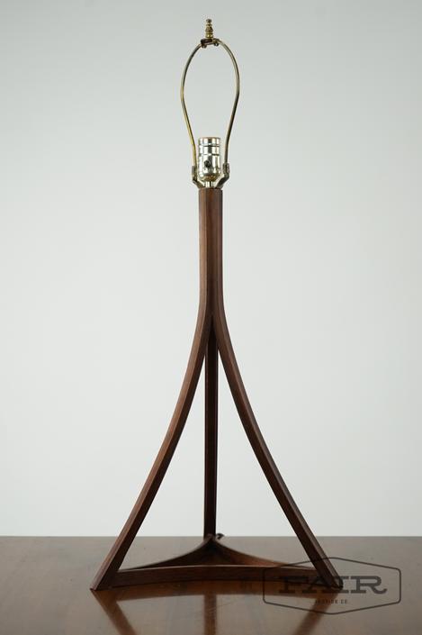 Brazilian Rosewood Architectural Lamp