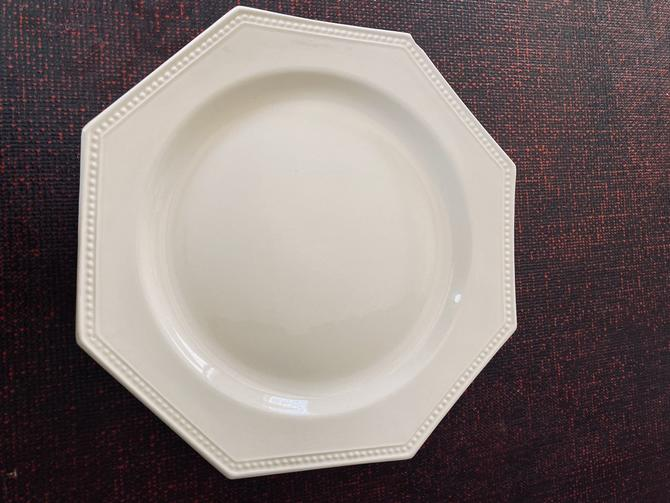 Antique French Creamware Octagon Dinner  Plate