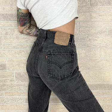 Levi's 501 Faded Black Jeans / Size 27 28 by NoteworthyGarments
