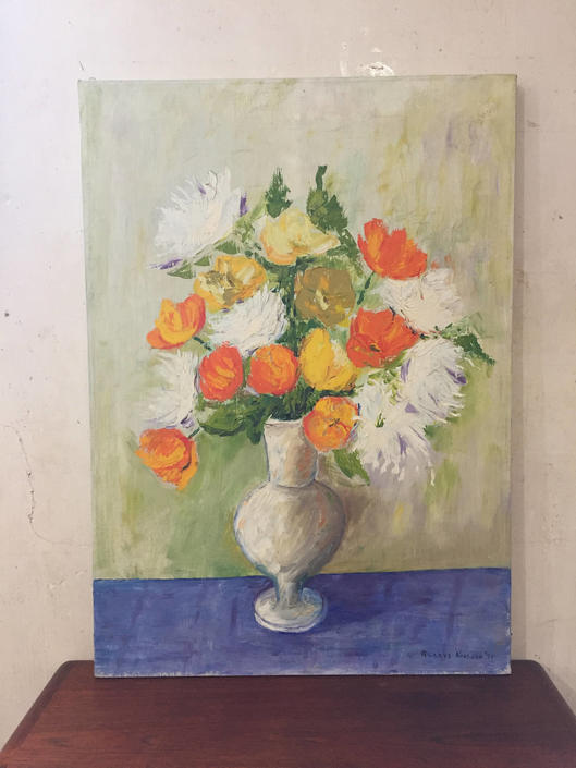 Original Still Life Painting - Vase of Poppies by ModandOzzie