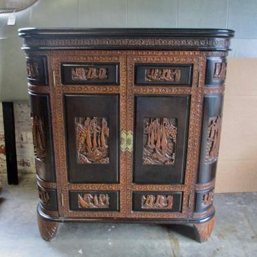 VINTAGE ASIAN STYLE BAR CABINET