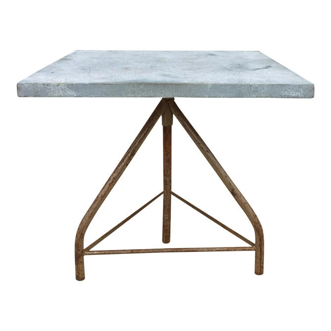 Industrial Zinc-Top Table