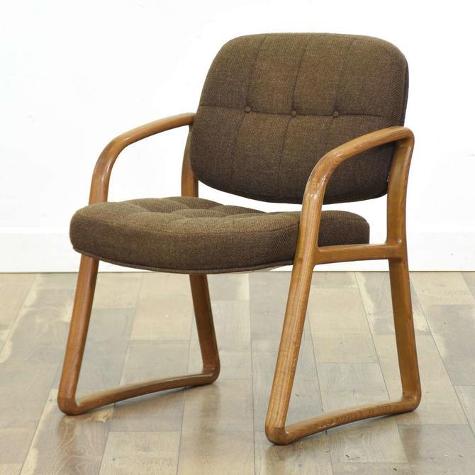 The Hon Co. Mid Century Modern Sled Armchair