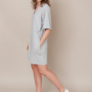 Sasha Organic Cotton Dress - Light Grey Marl