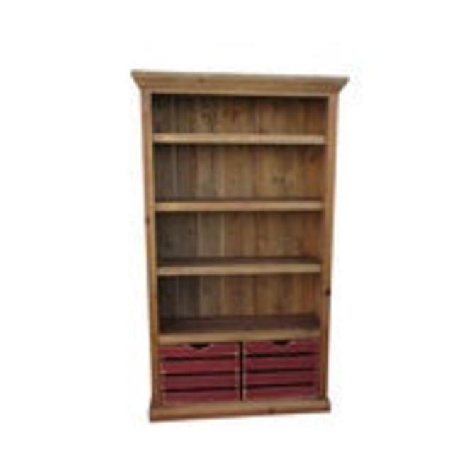 Bookcase, Bookshelves, Reclaimed Wood, Display Cabinet, Rustic, Handmade by VintageMillWerks
