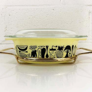 Vintage Pyrex Yellow Mod Kitchen Casserole Set 1.5 Quart Stand Cinderella Dish Milk Glass Dish Mid-Century Oven 1950s 50s USA Ovenware Lid by CheckEngineVintage