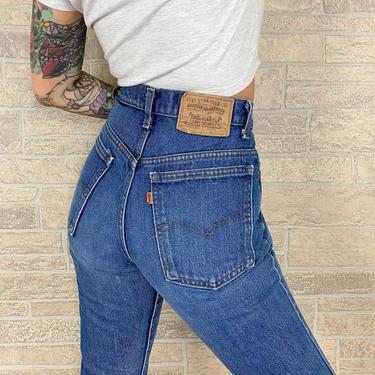 70's Levi's 517 Orange Tab Jeans / Size 27 28 by NoteworthyGarments