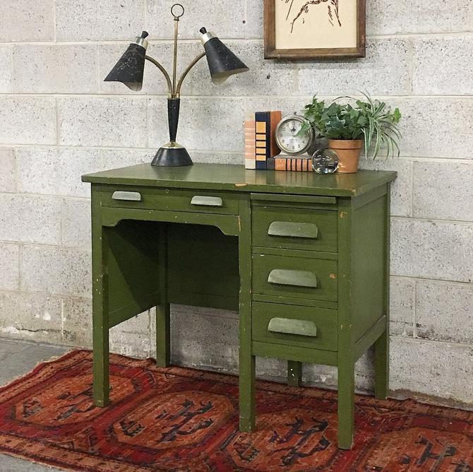 LOCAL PICKUP ONLY ----------- Vintage Wood Desk by RetrospectVintage215