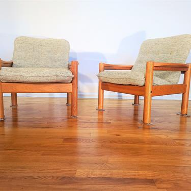 Mid Century Domino Mobler Pair of Lounge Chairs by ProRefineFurnishings