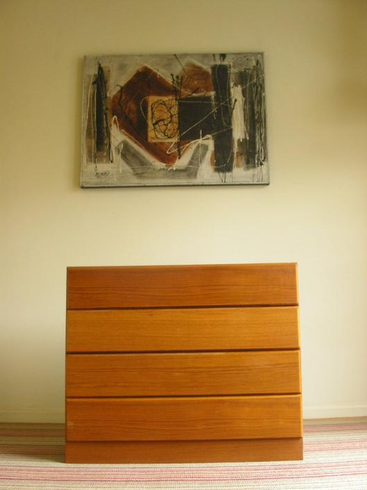 """ONE Danish Modern Short 34"""" Teak Dresser Nightstand From Vitre of Denmark Bedroom Storage Chest  MCM Mid Century by RetroSquad"""