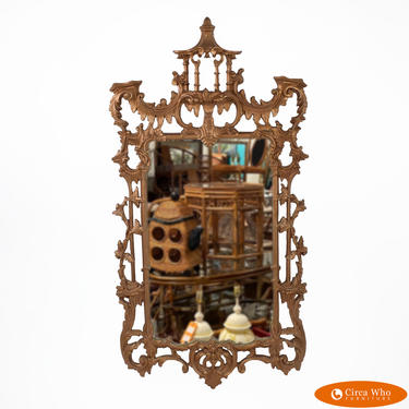 Gold Chippendale Pagoda Mirror
