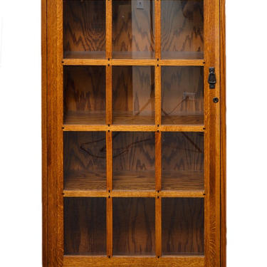 Mission Arts & Crafts Stickley style Single Glass Door Bookcase by DaleMartinFurniture
