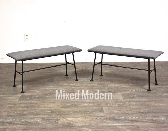 Lee Woodard Iron Bench by mixedmodern1