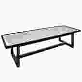 Rare Harvey Probber Etched Metal Top Coffee Table 1950s