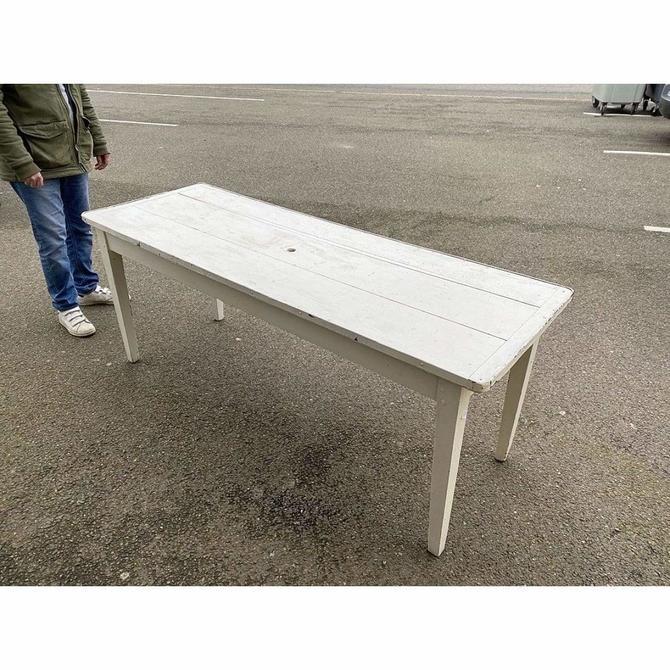 Vintage White Farm Table