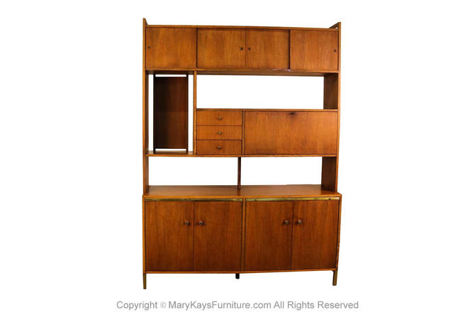 Mid Century Credenza Buffet Hutch Room Divider by Marykaysfurniture