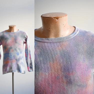 Vintage Pink Purple Tie Dye Army Thermal by milkandice