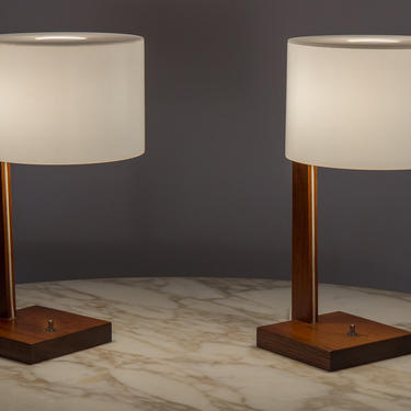 Uno And Osten Kristiansson Rosewood Table Lamps by openairmodern