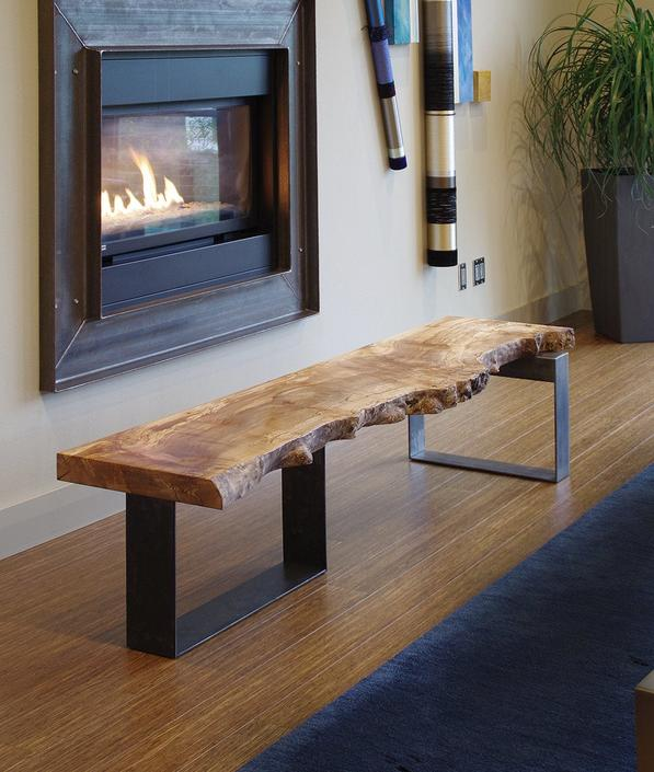 CUSTOM RESERVE for Kristine - live edge coffee table from urban salvage wood and recycled content steel - north | west table - natural edge by birdloft