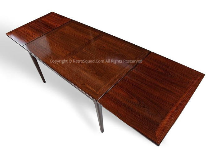 Brazilian Rosewood Dining Table By Skovby of Denmark + Full Set of Protective Custom TABLE PADS, Text Offer 571 330 0810, MCM Eames Knoll by RetroSquad