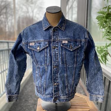Vintage 1980s Stallone Men's Classic Button Front Heavy Duty Denim Jean Jacket by AIDSActionCommittee