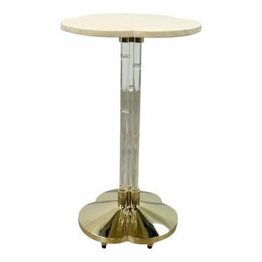 Caracole Modern Bamboo Acrylic Drinks Table/Accent Table Prototype