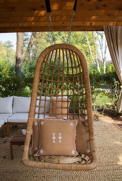 SHIPPING NOT FREE!!! Vintage Bamboo Hanging Chair/ Swing by WorldofWicker